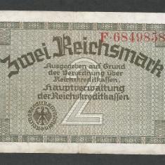 GERMANIA NAZISTA 2 MARCI MARK 1939 1940 1945 [23] Cu zvastica, P-R137a - bancnota europa