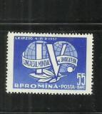 ROMANIA 1957 - CONGRESUL MONDIAL AL SINDICATELOR -LEIPZIG - LP. 441