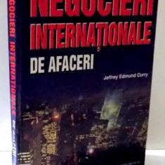 NEGOCIERI INTERNATIONALE DE AFACERI de JEFFREY EDMUND CURRY, 2000 - Carte Marketing