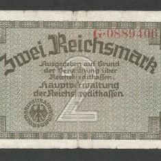 GERMANIA NAZISTA 2 MARCI MARK 1939 1940 1945 [19] Cu zvastica, P-R137a - bancnota europa