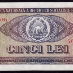Romania, 5 lei 1966, UNC_serie G.0064~504842 - Bancnota romaneasca