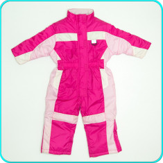 Combinezon—salopeta iarna, impermeabil, practic, OKAY→ fete | 2—3 ani | 92—98 cm, Marime: Alta, Culoare: Roz