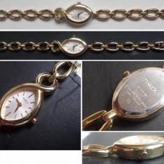 Ceas Timex Women's Style T2M733, ca nou, placat cu aur - Ceas dama Timex, Quartz
