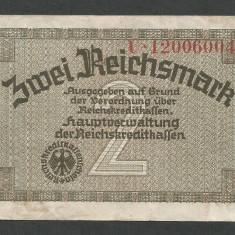 GERMANIA NAZISTA 2 MARCI MARK 1939 1940 1945 [12] Cu zvastica, P-R137b, VF - bancnota europa