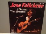JOSE FELICIANO - I SECOND THAT../FREE..(1982/MOTOWN/RFG) - Vinil Single pe '7/NM, Polygram