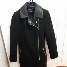 Vand palton SINSAY - Palton dama, Marime: XS, Culoare: Negru