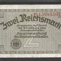 GERMANIA NAZISTA 2 MARCI MARK 1939 1940 1945 [25] Cu zvastica, P-R137a - bancnota europa