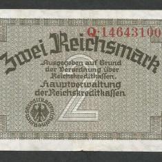 GERMANIA NAZISTA 2 MARCI MARK 1939 1940 1945 [2] P-R 137b, VF+, Cu zvastica - bancnota europa