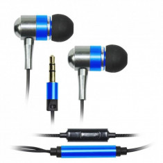 Casti Vakoss SK-225EB Metal Blue, Casti In Ear, Cu fir