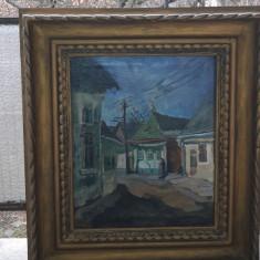 Tablou ulei pe panza semnat Nagy Oszkar. - Pictor roman, Scene gen, Impresionism