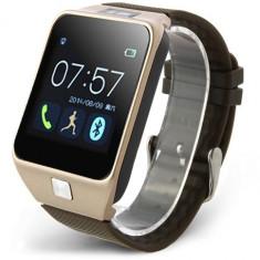 Smartwatch iUni U18 Slim, Bluetooth, LCD 1.5 inch, Sleep Monitor, Pedometru, Carcasa metalica, Auriu + Spinner Titirez Cadou