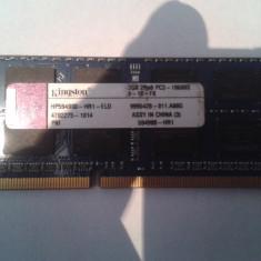 Vand Ram Kingston 2Gb DDR3 1333Mhz pt Laptop Pret 45 Lei - Memorie RAM laptop