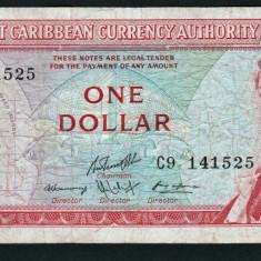 Caraibe 1 Dollar litera V 1965 P#13 o - bancnota america, An: 1937
