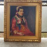 Tablou ulei pe panza semnat Ipolit Strambu., Portrete, Impresionism