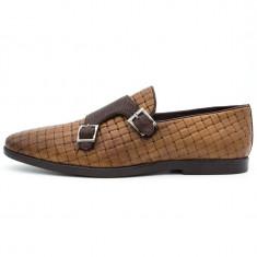 Pantofi barbati casual din piele naturala, Cod:Kt 298673 Maro (Culoare: Maro, Marime Incaltaminte: 42) UCU Dima