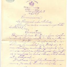 Z48 DOCUMENT VECHI-PERMISIUNE DE ALIMENTARE APA-SULINA-ANUL 1922 OCTOMBRIE 9