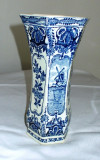 Vaza - portelan Olanda - Delft Blue - Boch - pictata manual