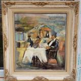 Tablou ulei pe carton semnat Tibor Erno.Localizat Paris. - Pictor roman, Scene gen, Impresionism