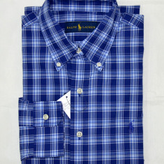 Camasa Ralph Lauren colectia noua S, M - Camasa barbati Ralph Lauren, Culoare: Albastru, Maneca lunga