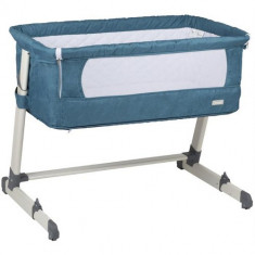 Patut Co-Sleeper 2 in 1 Together Turquoise Blue - Patut pliant bebelusi BabyGo