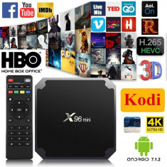 Mini PC TV Box X96 Mini, 4K, Quad-Core, 1/8GB, WiFi, HDMI, Android 7.1 ext. IR