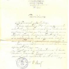 Z46 DOCUMENT VECHI-PERMISIUNE DE CONSTRUCTIE-SULINA-ANUL 1909 IUNIE 25