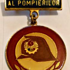 INSIGNA PIONIER PRIETEN AL POMPIERILOR CU BARETA EMAIL RECE 30 MM PIONIERI