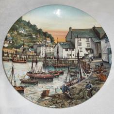 Farfurie - decorativa / de colectie - portelan Englezesc - Pool Pottery, Decorative
