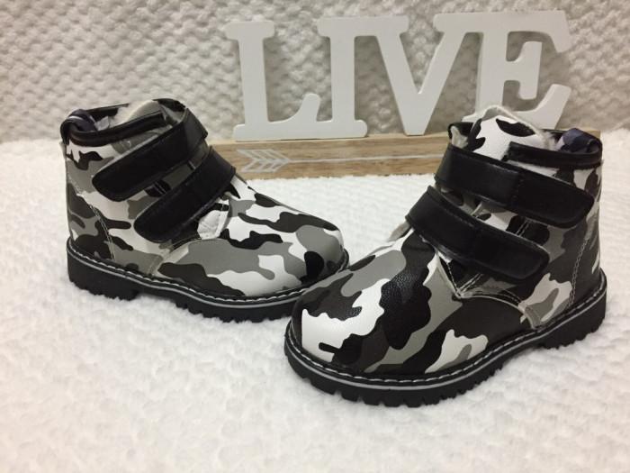 pret nebun vânzarea de încălțăminte cost scăzut Bocanci imblaniti army ghete scai iarna pantofi negri copii baieti ...