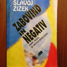 Zabovind in negativ. Kant, Hegel si critica ideologiei - Slavoj Zizek (2001) - Filosofie