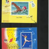 Romania MNH 1988 - colite nedantelate - LP 1204 si 1209 - JO Seul - foarte rar, Nestampilat