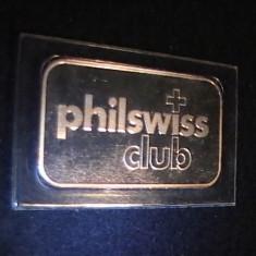 -NUMISMATICA-PHILWISS-CLUB-LINGOU1 UNCIE-AG- -ELVETIANA-CERTIF=125521-, Europa