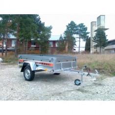 Remorca auto 750kg Boro Agro basculabil 205x122 cm, 6 RATE Fara Dobanda, cu RAR - Utilitare auto