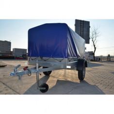 Remorca 750Kg 204x109x100 cm cu prelata, 6 RATE Fara Dobanda, RAR efectuat - Utilitare auto