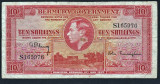 Bermuda  10 Shillings - single letter!!!1937 P#10a