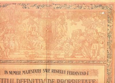 Z42 DOCUMENT VECHI -TITLU PROPRIETATE -IOAN I. DARVARU-HORODISTEA-JUD. DOROHOIU foto