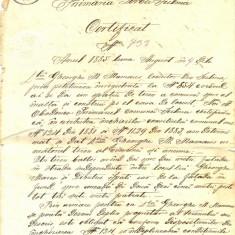 Z44 DOCUMENT VECHI-ACT DE IMPROPIETARIRE CU CONDITII-SULINA-ANUL 1885 AUGUST 9