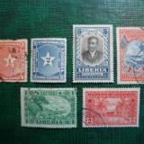 LOT TIMBRE LIBERIA, Stampilat