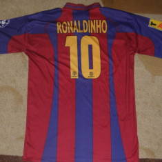 Tricou fotbal Ronaldinho - Barcelona Fc, marimea XL(L) - Echipament fotbal, Marime: L/XL