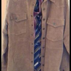 Sacou piele original XL - Sacou barbati, Culoare: Maro