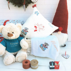 Teddy Gift Basket – Set cadou Craciun Personalizat