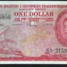 Caraibele Britanice 1 Dollar 1963 P#7c