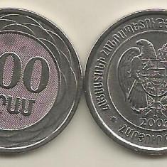 ARMENIA 100 DRAM 2003 [1] XF+, livrare in cartonas, Asia, Fier