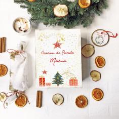 Magic Christmas Gift Box – Set Craciun cutie personalizata cu lumanare decorativa, ceai si ornament