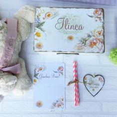 Peachy Love Baby Gift Set- Cadou Bebe cu Jucarie