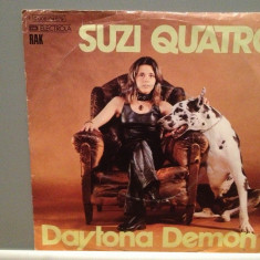 SUZI QUATRO - DAYTONA DEMON/ROMAN FINGERS (1973/RAK/RFG) -Vinil Single pe '7/NM - Muzica Pop emi records