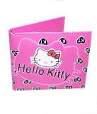 Portofel roz Hello Kitty cu inimioare