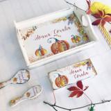 Set 1 An Little Autumn Dreams – tava si cutituta personalizate - Decoratiuni petreceri copii