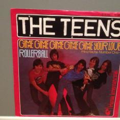 THE TEENS - GIMME GIMME../ROLLERBALL (1978/HANSA/RFG) - Vinil Single 45 pe '7/NM, ariola