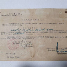 Brevet provizoriu de Cruciada impotriva Comunismului cu bareta Odessa WW2 1943